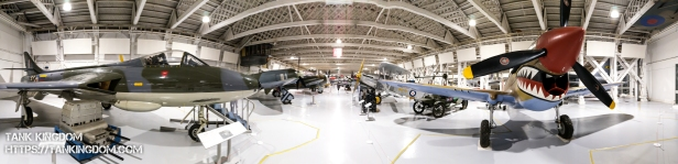 One of the 6 hangars at the RAF Museum in London